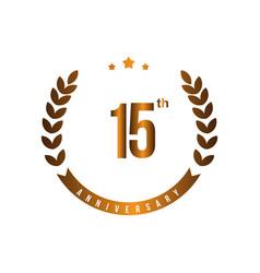15 th anniversary template design vector