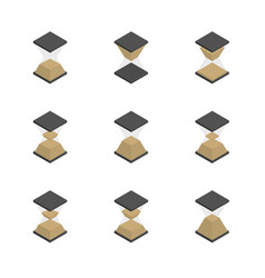 3d hourglass icons set vector image