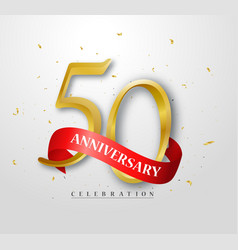 50 years happy anniversary banner celebration vector image