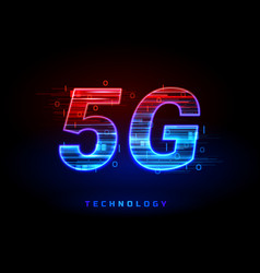 5g wireless speed connection technology sign vector image