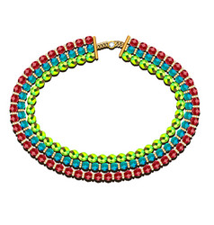 A necklace three rows beads different vector
