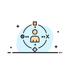 Ambient user technology experience business flat vector