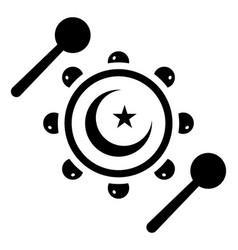 Arabic tambourine vector