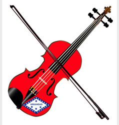 Arkansas state fiddle vector
