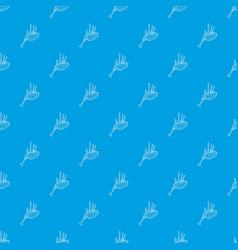 Bagpipe pattern seamless blue vector