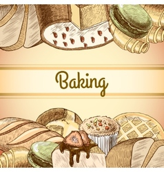Baking pastry poster vector image