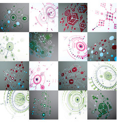 Bauhaus art set of modular wallpapers made using vector