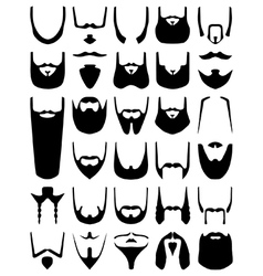 Beard silhouettes vector