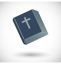 Bible single icon vector image
