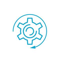 Blue gear infographic element vector