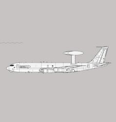 Boeing e-3a sentry vector