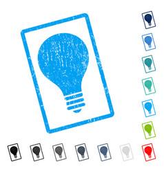 Bulb icon rubber watermark vector