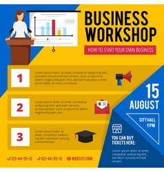 Business Training Workshop Announcement Poster vector