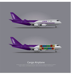 Cargo ship airplane isolated vector