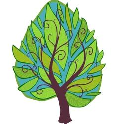 Cartoon Tree Isolated vector image