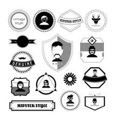 character cartoon hipster style vector image