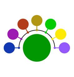 Circular scheme chart vector