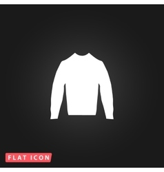 Clothing sweater pictograph vector