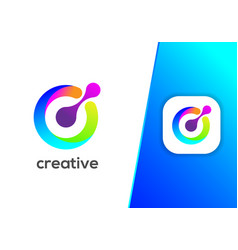 creative letter c cycle modern logo design vector image