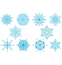 Decorative Snowflakes set - winter series clip-art vector image