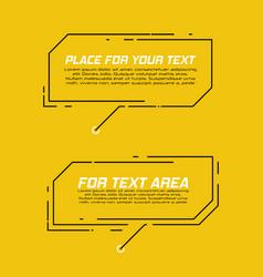 Digital callouts titles vector