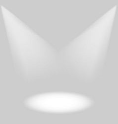 effects of stage lighting on a gray background vector image