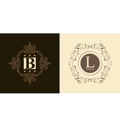 Elegant monogram design template vector