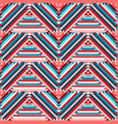 ethnic tribal zigzag seamless pattern vector image