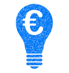 Euro patent icon grunge watermark vector