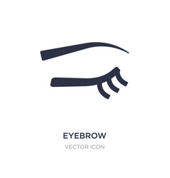 Eyebrow icon on white background simple element vector