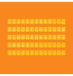 Flat orange paper countdown timer vector
