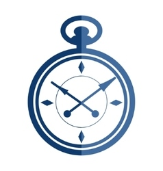 Flat pocket watch vector image