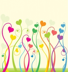 floral love vector image