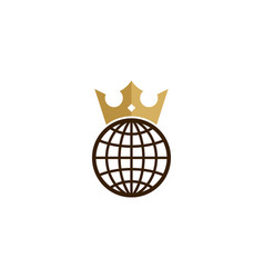 Globe king logo icon design vector
