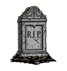 Gray gravestone halloween concept vector