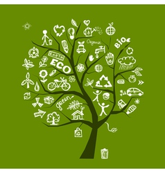Green ecology tree vector