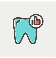 Healthy tooth thin line icon vector