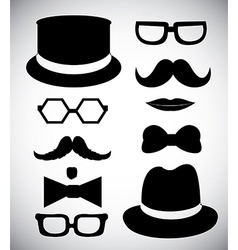 Hipster style silhouette vector image