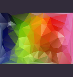horizontal multicolor low-poly vector image