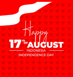 Indonesia independence day red background vector