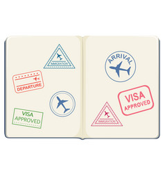 Inside of a passport vector