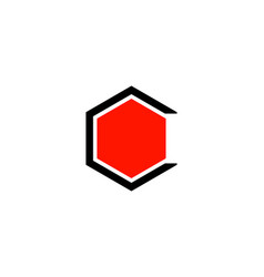 Letter c hexa color logo design template vector
