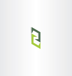 Letter z green sign logo icon element vector