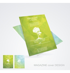 Magazine cover layout design vector