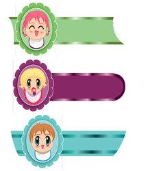 Manga banners vector