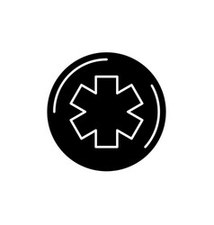 medicine symbol black icon sign on vector image