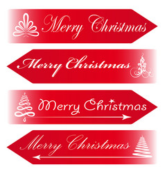 Merry christmas road signs arrows message red vector