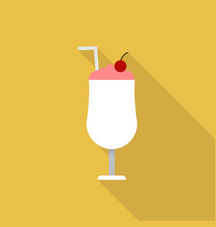 milkshake icon set of great flat icons design vector image