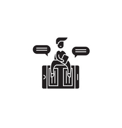 online copywriter black concept icon vector image