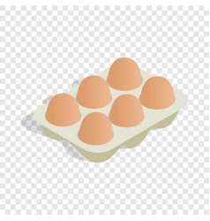 packaging for eggs isometric icon vector image